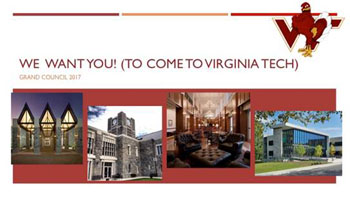 We want you (to come to Virginia Tech)! Grand Council 2017